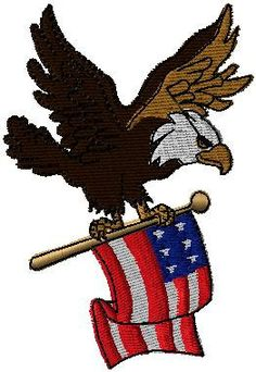 American flag eagle iron on or sew on patch by EmbroideryPatchLove
