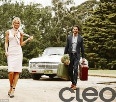 Cleo, April 2015.. Anna Heinrich and Tim Robards..