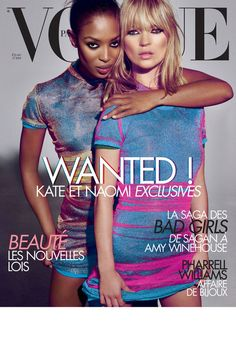 #Vogue Paris février 2008 /   Kate Moss & Naomi Campbell - Photo by Mario #Testino