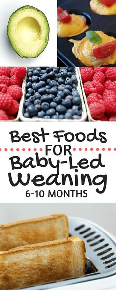 Best Foods for Baby-Led Weaning | Tons of meal and food ideas for 6-10 month olds! Simple baby-led weaning recipe ideas for each month. Plus tips and advice from a mom of two | Yogurt Metls | BLW Pancakes | First Foods | Recipes