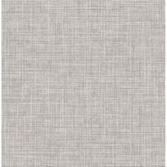 Show details for Mendocino Grey Linen Wallpaper