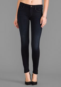 Mother skinny jeans, $210