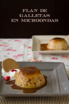Flan de Galletas en Microondas Microwave Recipes, Kitchen Recipes, Cooking Recipes, Cakes And More, Diabetic Recipes, Food Inspiration, Sweet Recipes, Muffin, Sweets