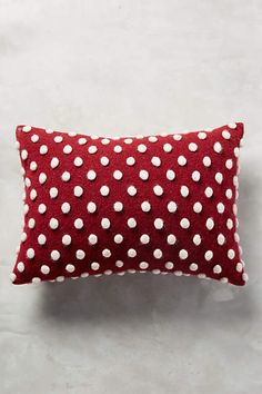 Woolen Pom Pillow, it's the cutest thing ever, right? - anthropologie