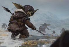 Alex Konstad 17 mins · The Hunt! scratching that goblin itch. Fantasy Races, High Fantasy, Fantasy Rpg, Fantasy World, Goblin Art, Goblin King, Character Inspiration, Character Art, Character Design