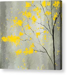 Yellow Foliage Impressionist Acrylic Print by Lourry Legarde. All acrylic prints are professionally printed, packaged, and shipped within 3 - 4 business days and delivered ready-to-hang on your wall. Choose from multiple sizes and mounting options.