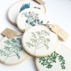 This Hand Embroidered Hoop features a contemporary Houseplant design which has been made using Cotton Anchor Tapestry Threads and has been