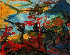 Work by Frank Auerbach #art #painting