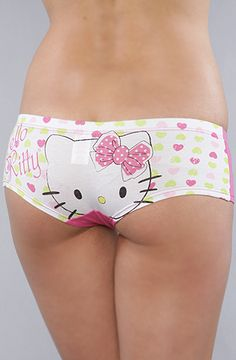 The Color Me Pink Panty in Hello Kitty Face Women's Intimates By Hello Kitty Intimates $9.00