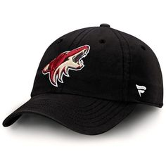 best service 0d3b4 213d8 Men s Arizona Coyotes Black Fundamental Adjustable Hat, Your Price   19.99