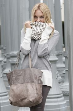 Love the scarf and bag