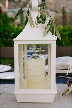 Menu imprimé sur une lampe #B4wedding #mariage #wedding #insolite
