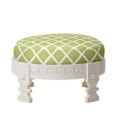 Stool with customizable fabric cushion