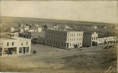 Main street, Elgin, Manitoba circa 1900 History Historic Historical Photos Photographs Pics Pictures Vintage Old West Canadian Settlement Prairies