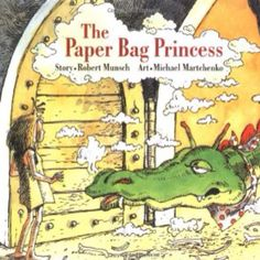 The Paper Bag Princess by Robert Munsch art by Micheal Martchenko The Princess Elizabeth is slated to marry Prince Ronald when a dragon attacks the castle and kidnaps Ronald In resourceful and humorous fashion Elizabeth finds the dragon outsmart Books To Read, My Books, Princess Stories, Mighty Girl, Book Girl, Children's Literature, English Literature, Read Aloud, In Kindergarten