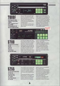 ALPINE.  Click the image to open in full size.  In 1989 I used to have the 5255 head unit and the whole deck pulls out. So that's great to reduce theft but then you have to carry around a 2 lbs unit everywhere.  Of course removable face plates appeared 6 years later.