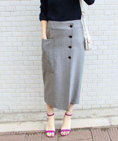 W/Cu ナナコデザインタイトスカート◆|IENA(イエナ)公式のファッション通販|【18060900204010】- BAYCREW'S STORE Muslim Fashion, Hijab Fashion, Korean Fashion, Fashion Dresses, Skirt Outfits, New Outfits, Long Skirt Fashion, Japan Fashion, Pola Rok