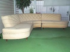 Perfect Vintage DECO SECTIONAL COUCH Howard Skyline Parlor Furniture MID CENTURY  SOFA