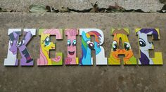 Wood Nursery Letter Names/ My Little Pony Themed Name/ Price is PER Letter/ My Little Pony