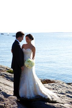 Newport wedding on the cliffs.. THAT IS THE EXACT DRESS I WANT TO GET MARRIED IN!