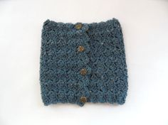 Neck Warmer - Textured Speckled Blue Neck Warmer, Beanie, Texture, Hats, Sweaters, Blue, Fashion, Surface Finish, Moda