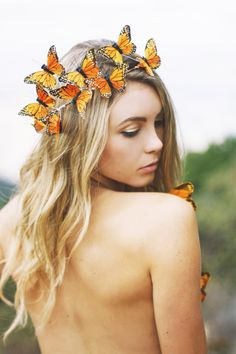 Natalie Castillo for Wild & Free Jewelry in the Monarch Dreams Crown
