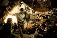 Ford, Lucas, and Spielberg on the set of Indiana Jones and the Kingdom of the Crystal Skull