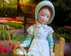 Vintage Holly Hobbie Figurine - Late 70s - Early 80s - Limited Edition, Holly Hobbie Girl Figurine