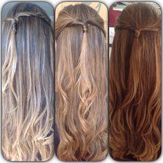 Mesmo cabelo. Três tons diferentes. Tudo depende da Luz do ambiente.