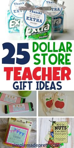 Dollar Store DIY Teacher Appreciation Gift Ideas - Diy gift For Kids Ideen Employee Appreciation Gifts, Teacher Appreciation Week, Volunteer Appreciation, Employee Gifts, Wrapping Ideas, Teacher Gift Baskets, Inexpensive Christmas Gifts, Inexpensive Teacher Gift Ideas, Teacher Christmas Gifts