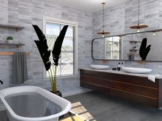 Stylish Bathroom 3D Rendering for Client Presentation by bevel.co.za #3Drendering #bathroom Interior Rendering, 3d Rendering, Interior Design, House Design, Design Room, Design Consultant, Make It Yourself, Bathroom, Parks