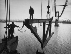 Delaware Memorial Bridge, 1951 by Peter Stackhouse