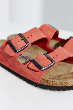 a5daa50d320 Birkenstock Arizona Nubuck Soft Footbed Slide Sandal - Urban Outfitters  Sock Shoes