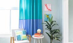 How to Sew Color Blocked Lined Grommet Curtains: A Step-By-Step Tutorial Lined Curtains, Grommet Curtains, Curtain Fabric, Sewing Essentials, Invisible Stitch, Quilting Rulers, Curtain Patterns, Sewing Stitches, Lining Fabric