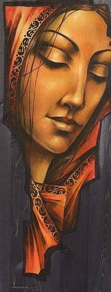 ufukorada: Victoria Stoyanova - At peace Art Sketches, Art Drawings, Figurative Kunst, Indian Art Paintings, Oil Paintings, Poster S, Art Moderne, Woman Painting, Portrait Art