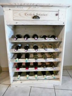 Normally each section of the wine rack will comprise of support of almost 5 wine bottles. You can even support with more number of wine bottles only in the condition if you will increase the size of the wine rack. It is all set with interesting impressions of designing terms.