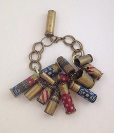 Quite sure my American Hubby has enough shells etc stocked piled I can use a few empty ones! lol Americana repurposed brass bullet bracelet