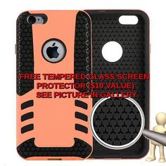 2015  Cell Phone Case For Iphone 6 Mobile Phone  TPU Armor Case  Lite Orange #Unbranded