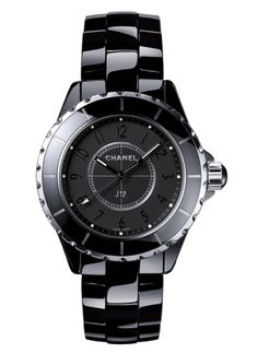 The deep and shiny black color of the #ceramic endows the #Chanel #watch with a distinguished elegance.