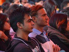 The perceptive audience at the Jaipur Literature Festival 2014, Jaipur, Rajasthan, India