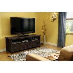 South Shore - Meuble TV Exhibit au fini Moka - 4479677 - Home Depot Canada