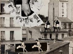 HUGNET Georges - suite de collages sans titre - 1936