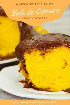 Bolo de Cenoura com Cobertura de Brigadeiro Easy Smoothie Recipes, Easy Smoothies, Cookie Recipes, Snack Recipes, Dessert Recipes, Torta Zebra, Brazilian Carrot Cake, Corn Cakes, Coconut Recipes