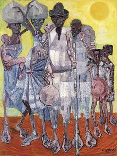 Cândido Portinari (1903 - 1962) Pintor brasileño. Sus obras tienden a representar a los brasileños y sus rasgos sociales y culturales. Refugees.