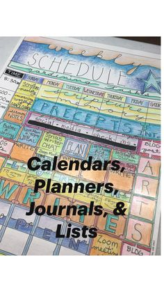 Calendars, Planners, Journals, & Lists