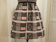 Nintendo controller inspired full skirt  by NerdAlertCreations, $45.00