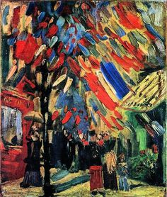 Vincent van Gogh The Fourteenth of July The 14th July in Paris, 1886