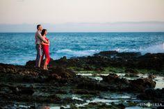 Love the colors and pose. Laguna Beach Engagement | Dena