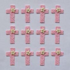 Fondant Cupcake Toppers - Crosses. $12.99, via Etsy.