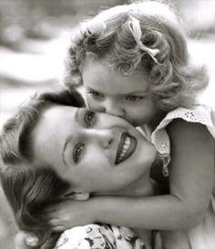 Loretta Young y su hija (and daughter) Judy